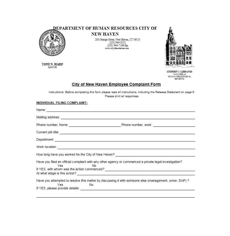 Employee Complaint Form 15
