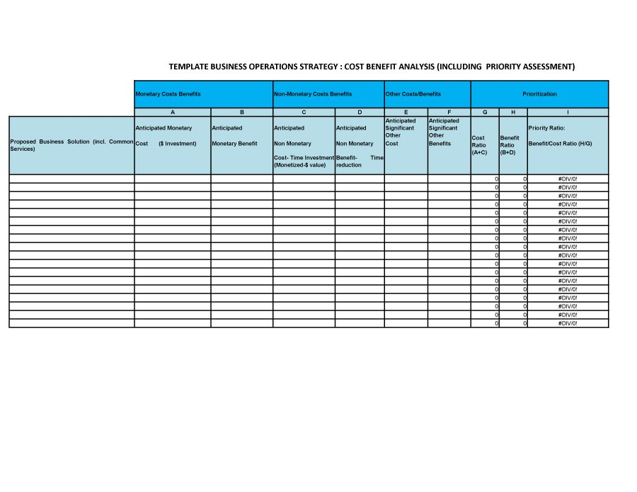 Cost Benefit Analysis Template 13