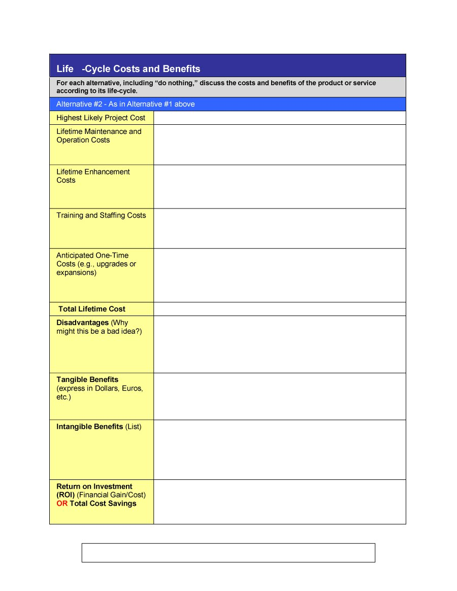 Cost Benefit Analysis Template 25