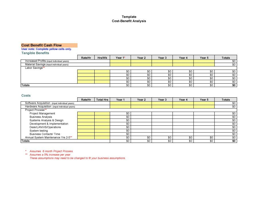 Cost Benefit Analysis Template 26