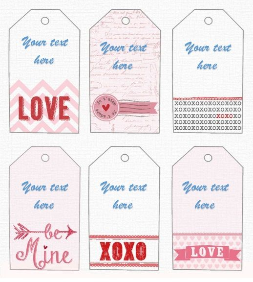 Printable Gift Tag Template 02