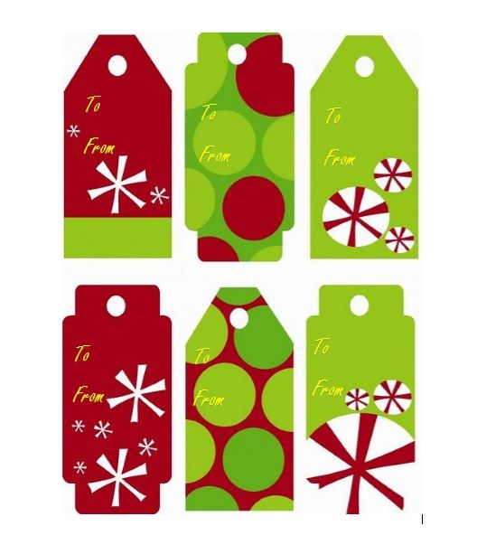 Printable Gift Tag Template 03
