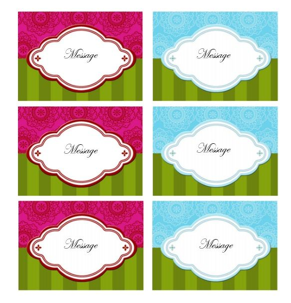 Printable Gift Tag Template 04