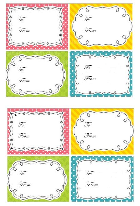 Printable Gift Tag Template 06