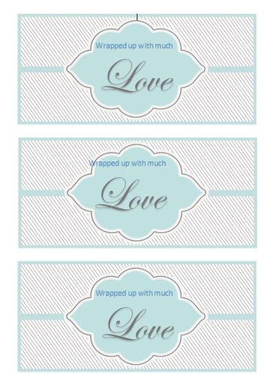 Printable Gift Tag Template 15