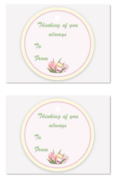 Printable Gift Tag Template 16