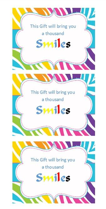 Printable Gift Tag Template 25