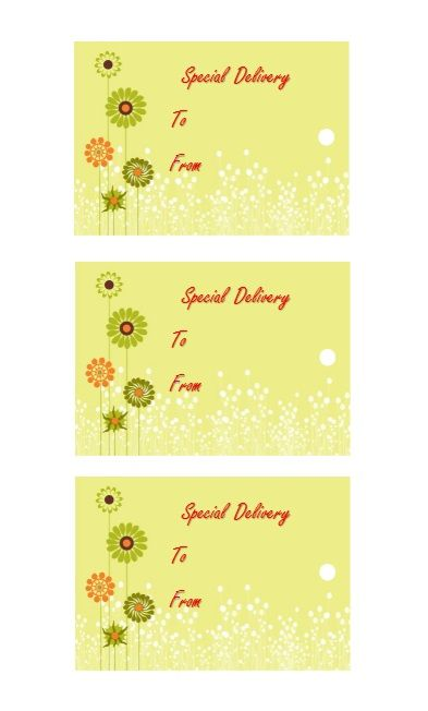 Printable Gift Tag Template 27