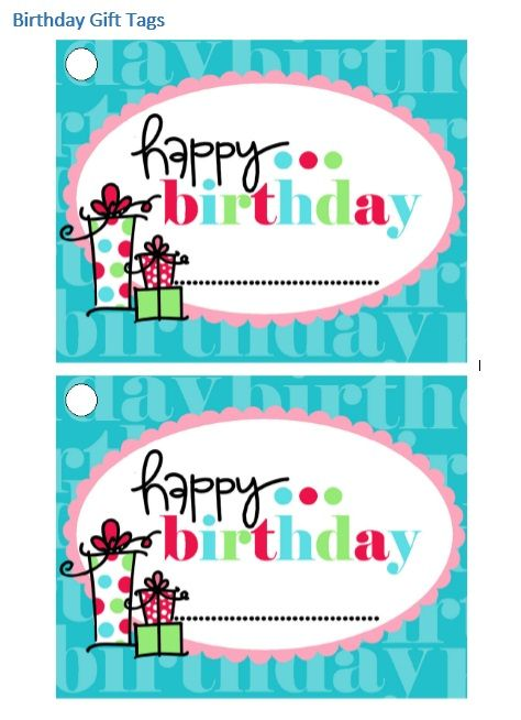 Printable Gift Tag Template 36