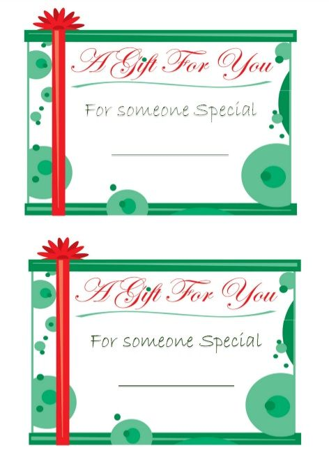 Printable Gift Tag Template 43