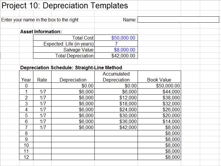depreciation schedule template 06