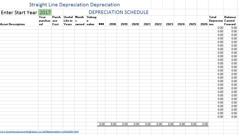 depreciation schedule template 07