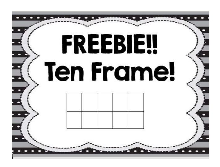 Ten Frame Template 22