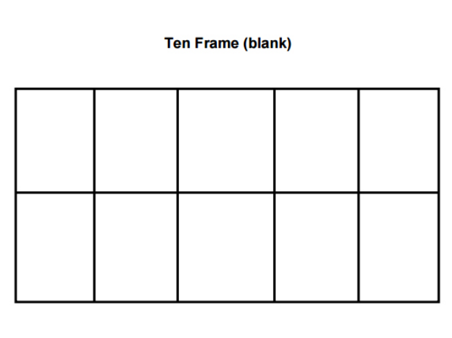 Ten Frame Template 26