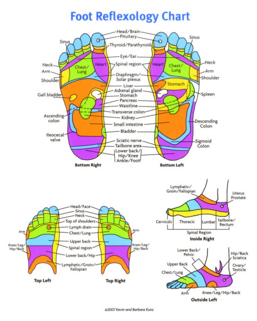 foot reflexology chart 21