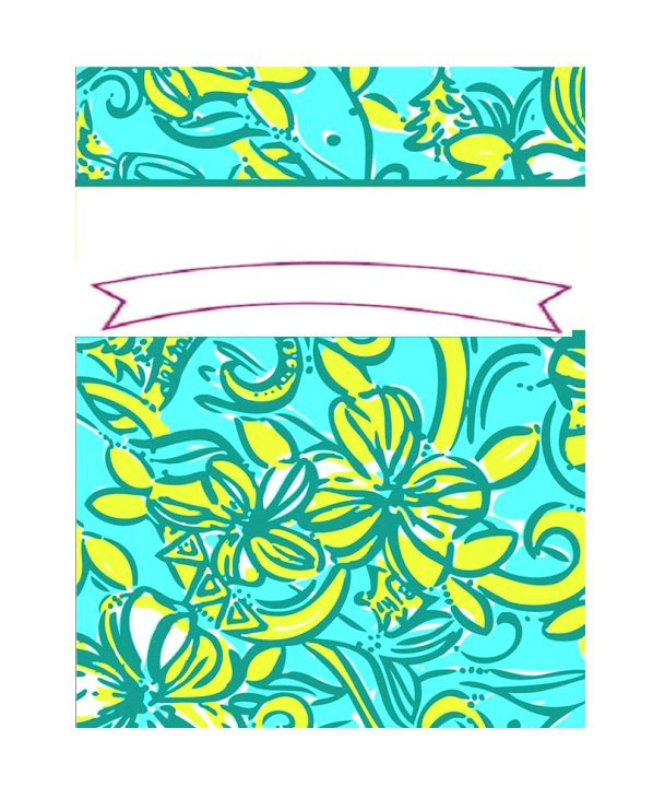 Binder cover template 09