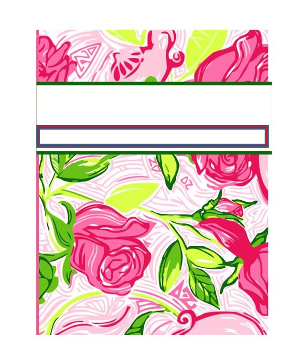 Binder cover template 11
