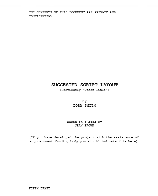 Screenplay Template 01
