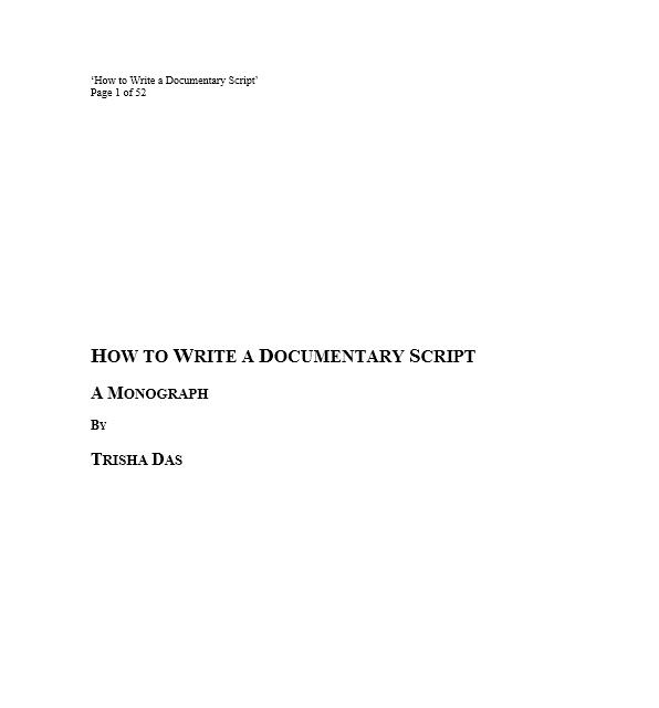 Screenplay Template 03