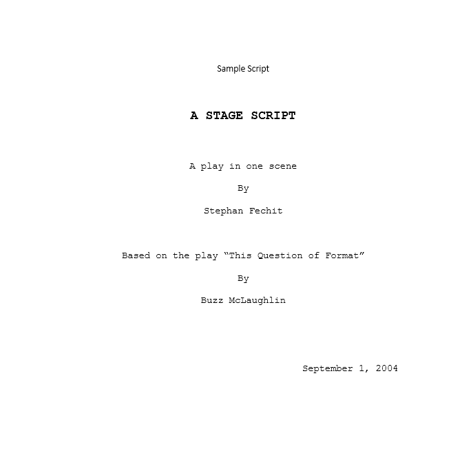 Screenplay Template 08