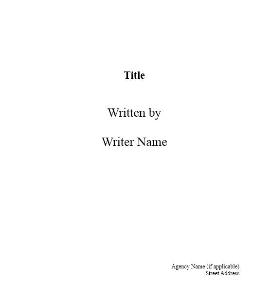 Screenplay Template 12