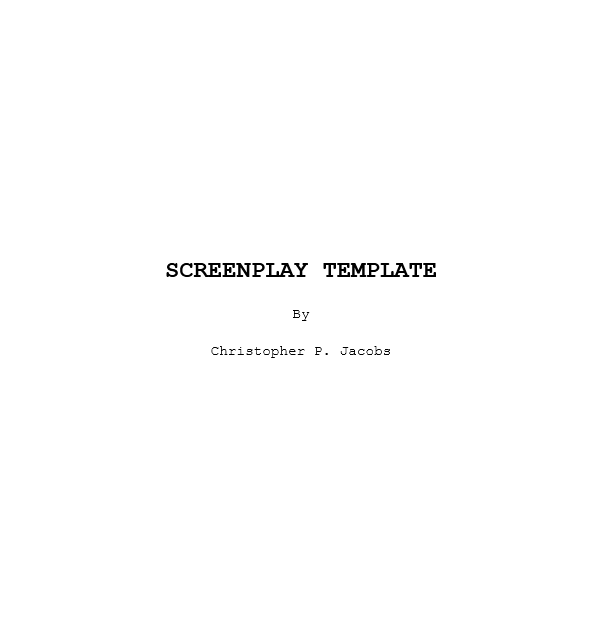 Screenplay Template 18