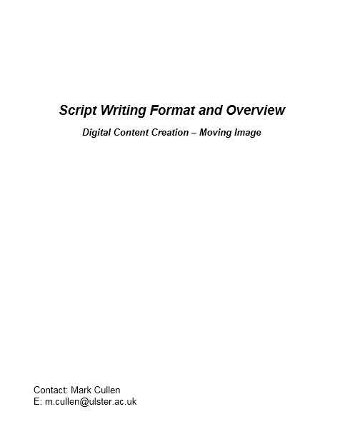 Screenplay Template 20