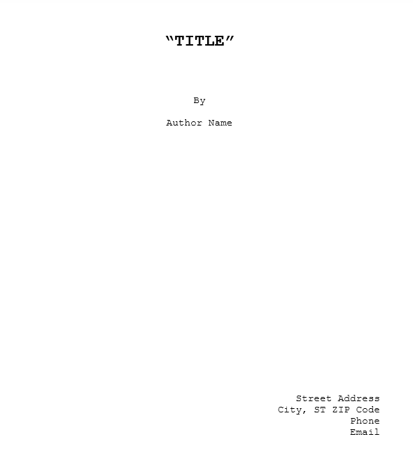 Screenplay Template 22