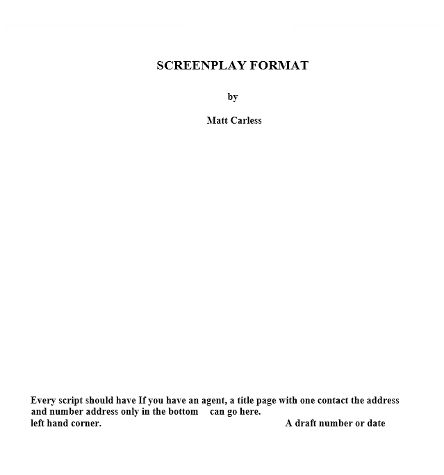 Screenplay Template 24