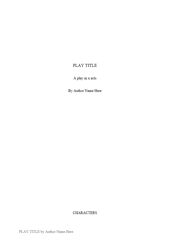 Screenplay Template 26