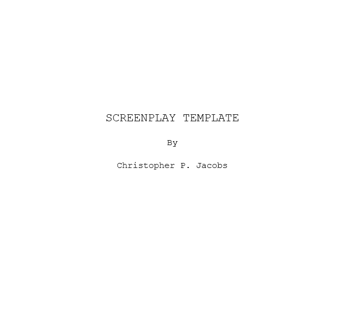 Screenplay Template 28