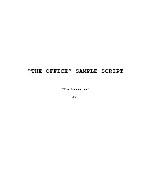 Screenplay Template 30
