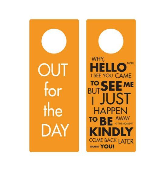 Door Hanger Template 18