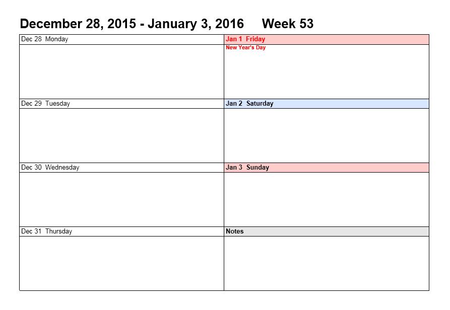 weekly calendar template 02