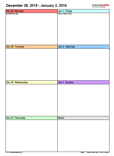 weekly calendar template 05