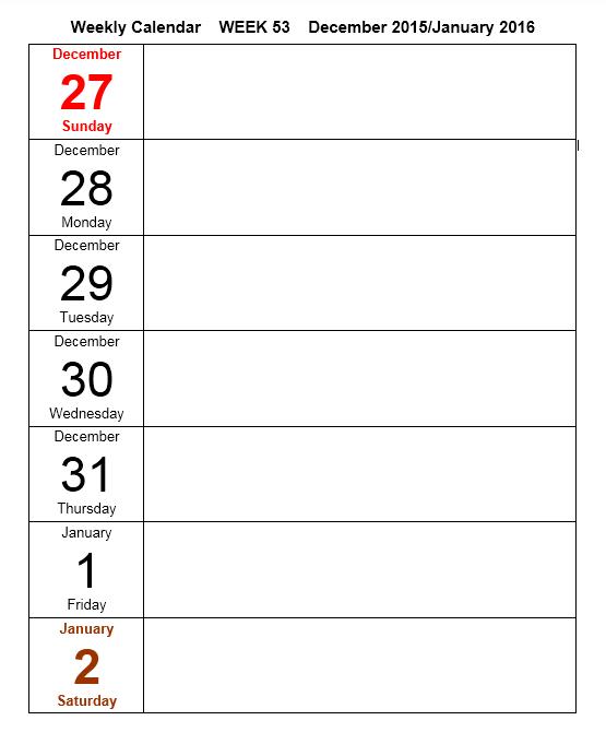 weekly calendar template 11