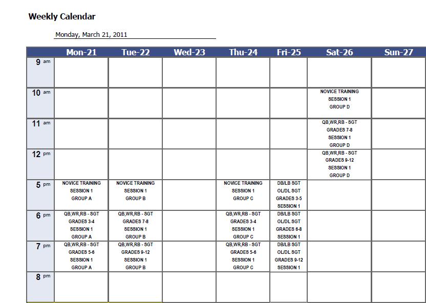 weekly calendar template 21