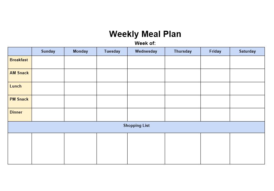 Menu Planner Template 07