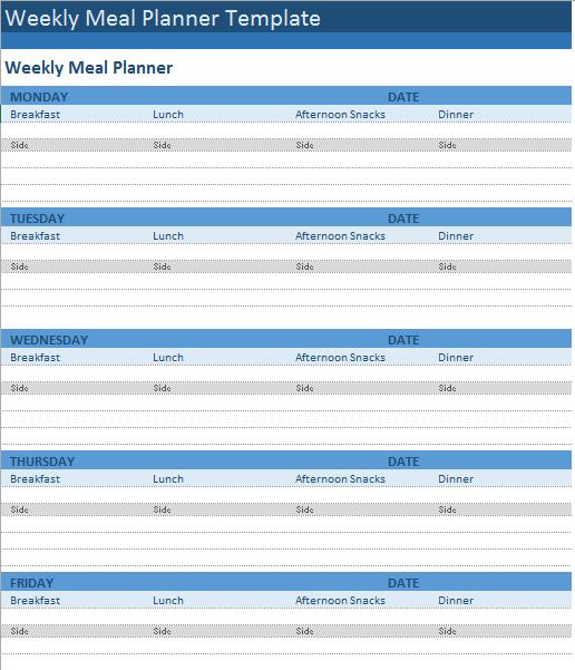 Menu Planner Template 15
