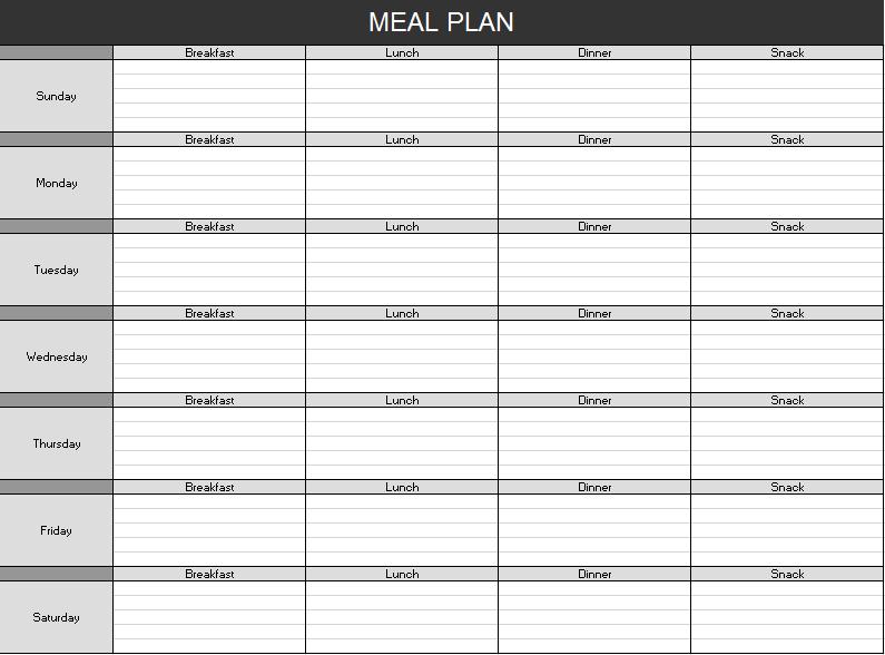 Menu Planner Template 17