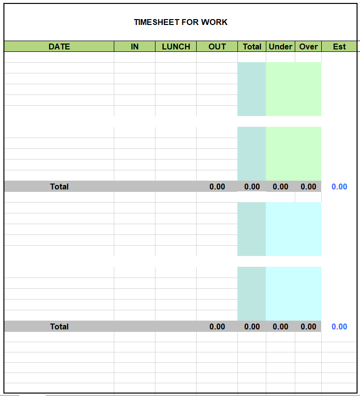 Project Timesheet Template 21