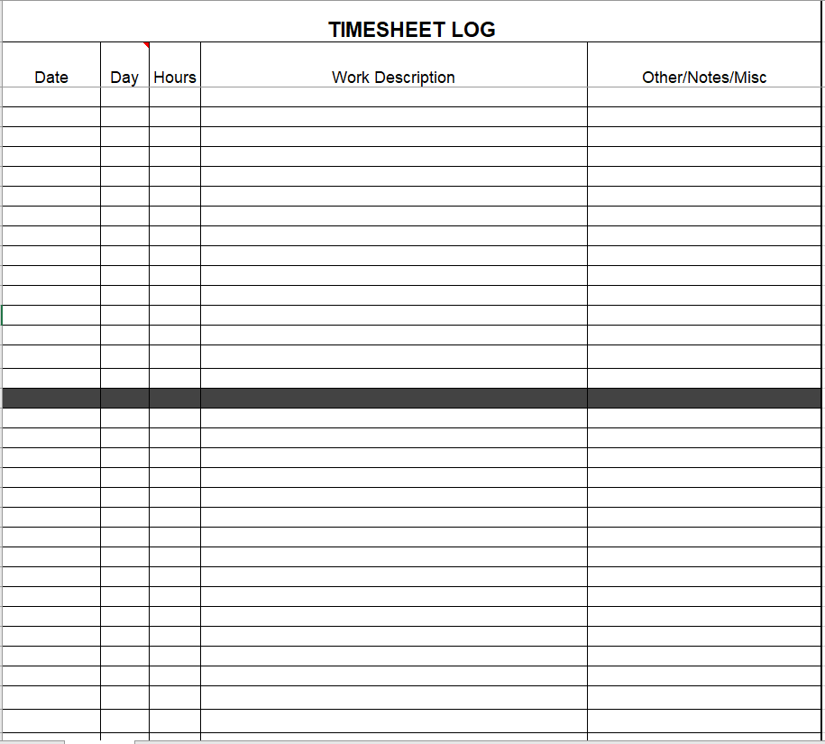 Project Timesheet Template 24