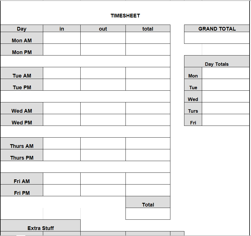 Project Timesheet Template 26