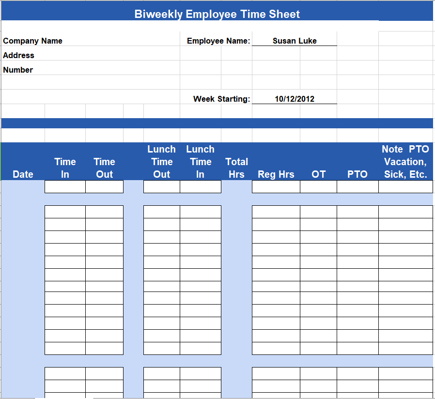 Project Timesheet Template 27