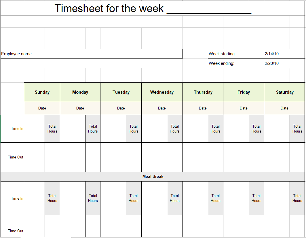 Project Timesheet Template 29