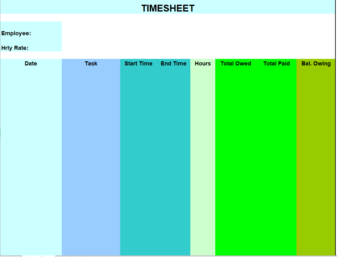 Project Timesheet Template 30