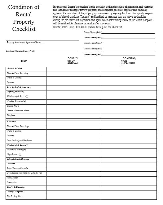 New Apartment Checklist 02