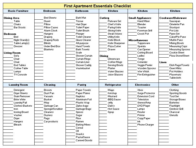 New Apartment Checklist 06
