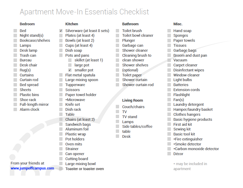 New Apartment Checklist 09