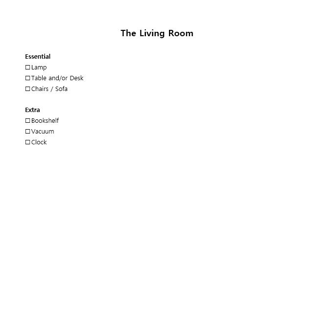 New Apartment Checklist 12